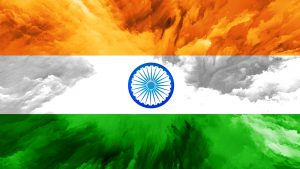 Abstract Art Stye of India Flag Wallpaper