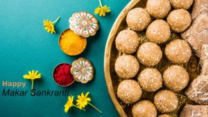 Happy Makar Sankranti Wallpaper for Greeting Card Design
