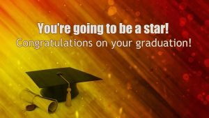 Casual Congratulations Graduation Messages with Futuristic Wish