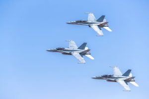 Fighter Jet Wallpaper with Royal Australian Air Force FA-18B Hornets