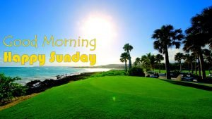 Good morning sunday images with beach picture