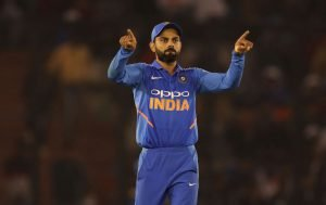 Virat Kohli Cricket Photo in The 4th ODI Mohali