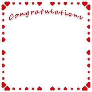 Free clip art congratulations with heart border