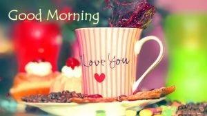 Good morning love images with Coffee Mug