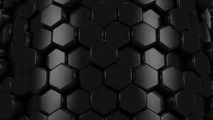 10 Wallpapers Free Download for Laptop in 4K - 06 - Black 3D Honeycomb Pattern