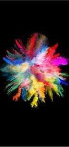 Abstract Colorful Powder with Dark Background for Samsung Galaxy S10 Series Wallpaper