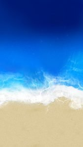 Beach Wallpaper for iPhone - 01 - Blue Ocean and Gold Sand