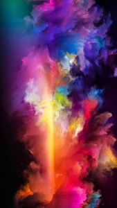 Apple iPhone SE Wallpaper 01 0f 50 - abstract colorful art painting