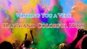 Free Greeting Card Design for Holi Celebration