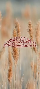Islamic Wallpaper for Phones with Basmala Calligraphy