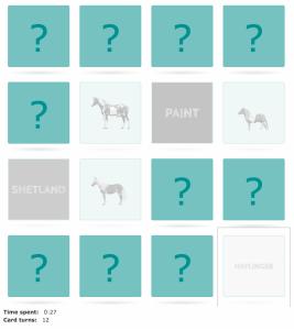 Horse breeds match game
