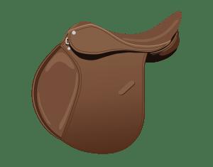 Illustration of an all purpose English saddle