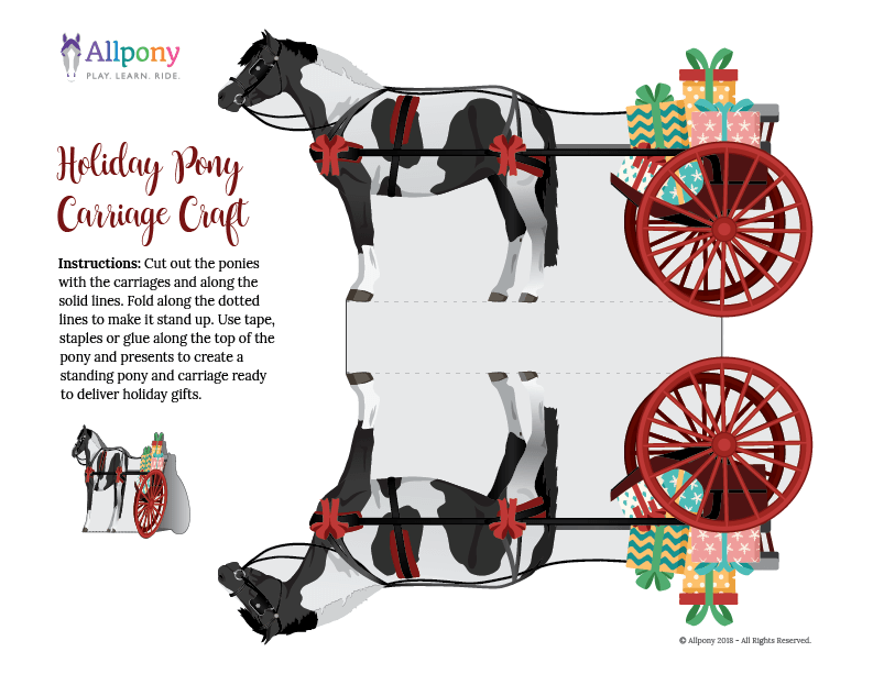 Holiday Pony Carriage Ride Craft