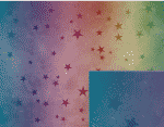 rainbow stars background pattern
