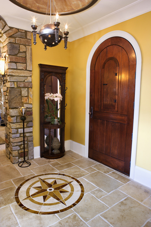 Front Door and Foyer of Luxury Home