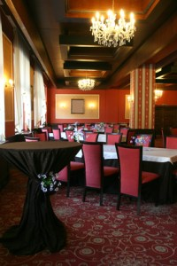 Banquet hall at restaurant-club