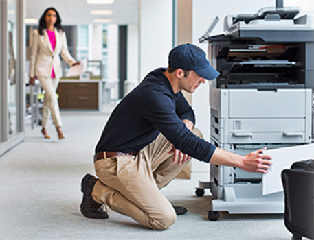printer and copier repair technician