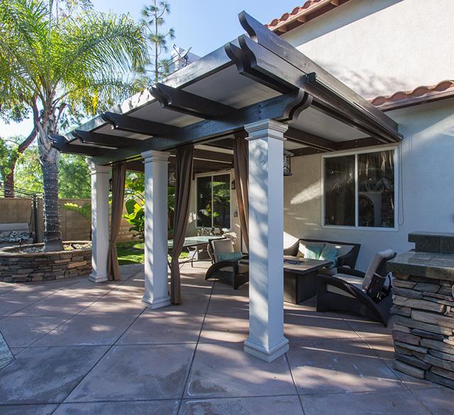 for elitewood aluminum patio cover colors