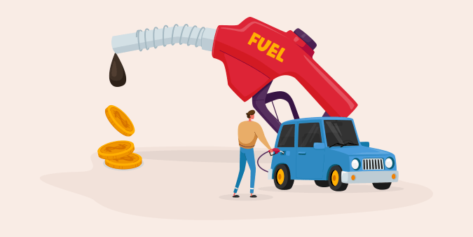 image of fuel pump and car