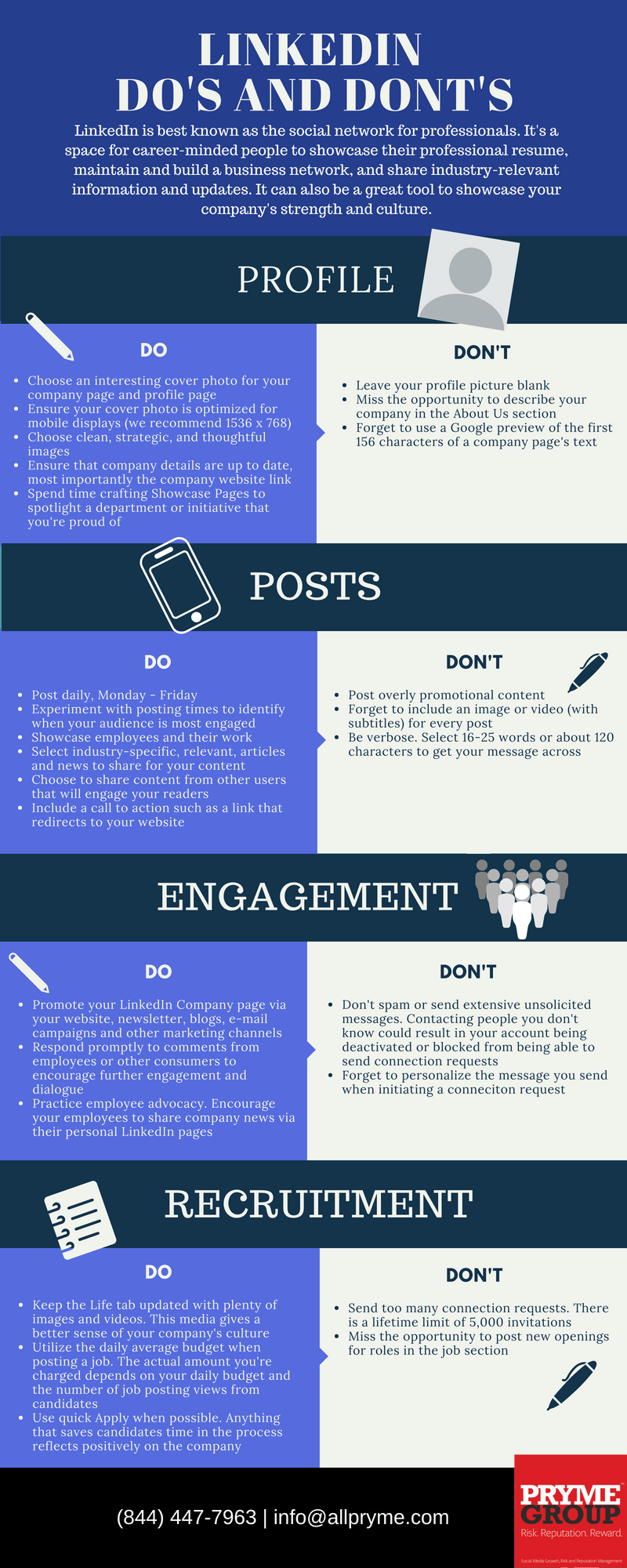 LinkedIn Do's & Don'ts Infographic