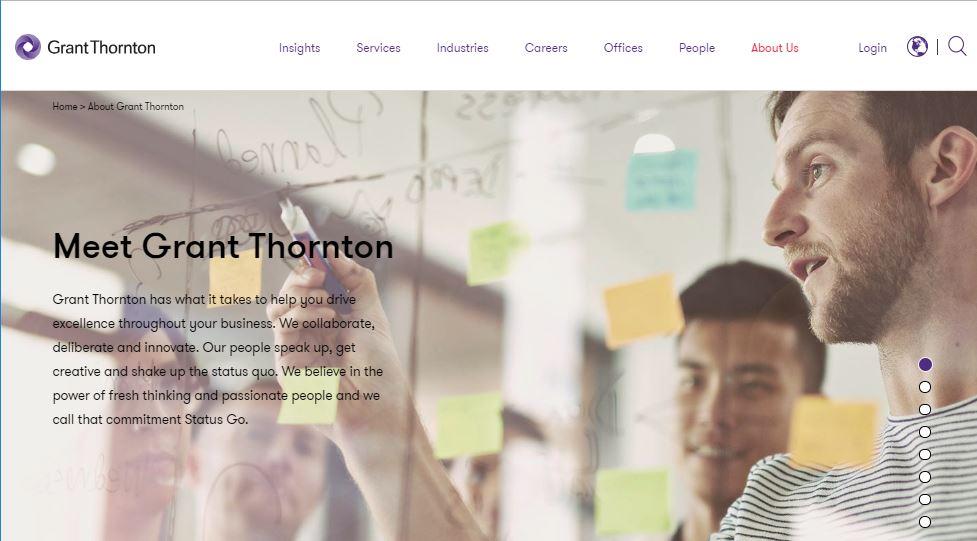 Grant Thornton website screenshot