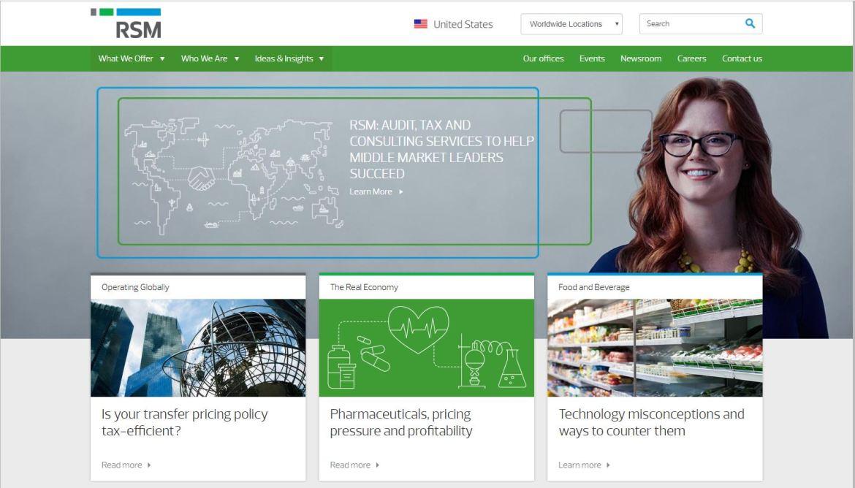 RSM US LLP website screenshot