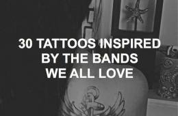30 tattoos inspired by the bands we love