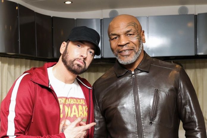 Photo of Eminem and Mike Tyson