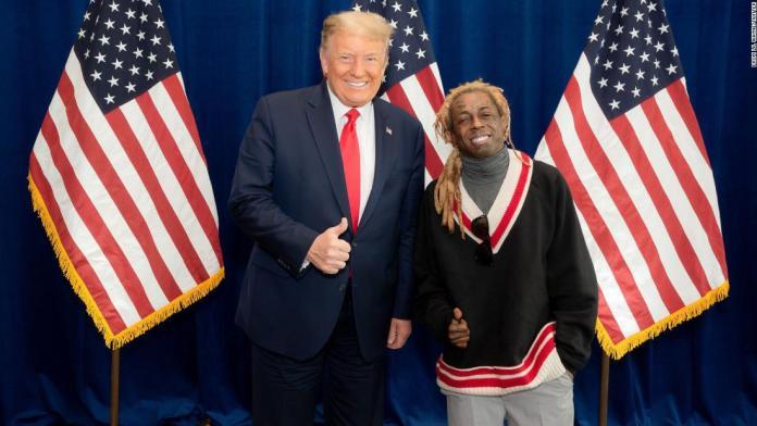 Lil Wayne and Donald Trump image