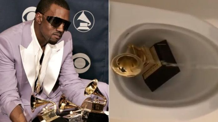 Kanye West Wins 2021 Grammy Award After Peeing On Award Last Year
