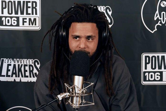 Watch J. Cole Drops A Fire Freestyle At Power 106 FM LA Leakers