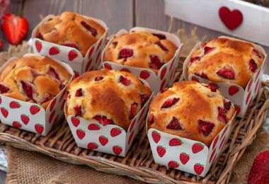 Muffins aux fraises et au mascarpone