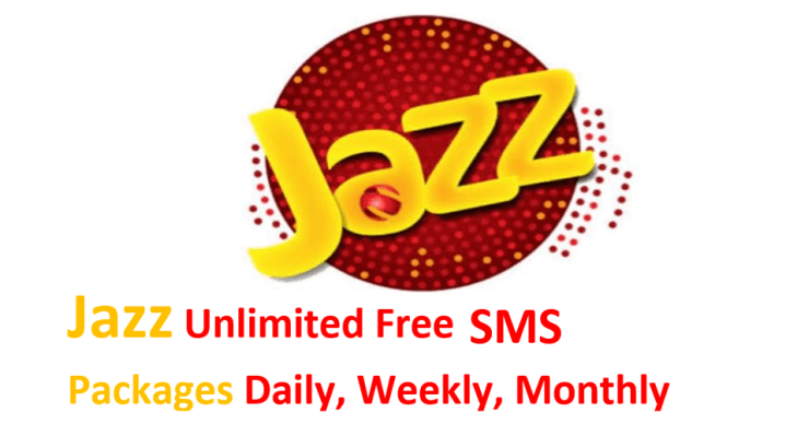Free Unlimited Jazz SMS Packages Daily Weekly Monthly