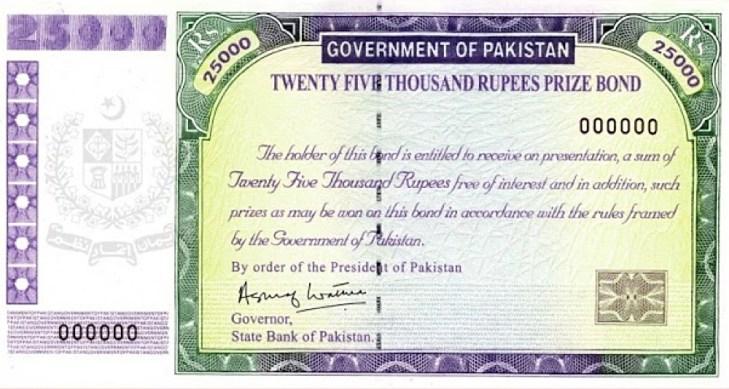 Rs. 25000 Prize Bond List