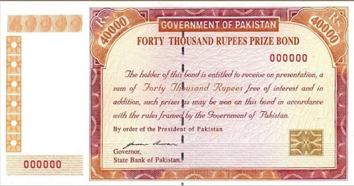 Rs. 40000 premium prize bond check latest draw list