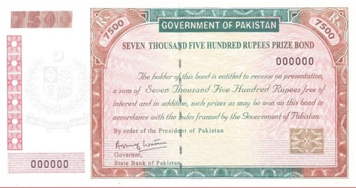 Rs. 7500 Prize Bond Result List