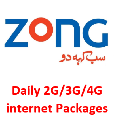 Zong Daily Internet Packages for Social Data Bundle