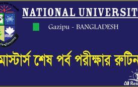 Masters Final Year Exam Routine 2017 NU.edu.bd