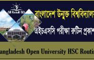Bangladesh Open University HSC exam routine 2016 Published