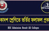 HSC Admission Result 2016 All Colleges | xiclassadmission.gov.bd