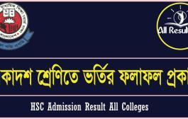 HSC Admission Result 2016 All Colleges | xiclassadmission.gov.bd