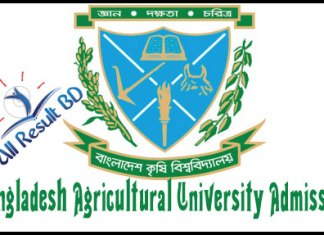Bangladesh Agricultural University Admission Circular