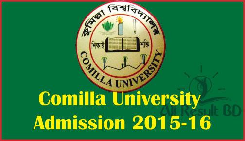 Comilla University Admission Test Circular 2016-17