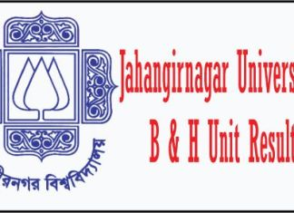 JU B and H unit result
