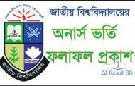 National University Honours Admission Result 2017-18