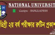 Degree 2nd Year Pass Exam Routine 2017 National University