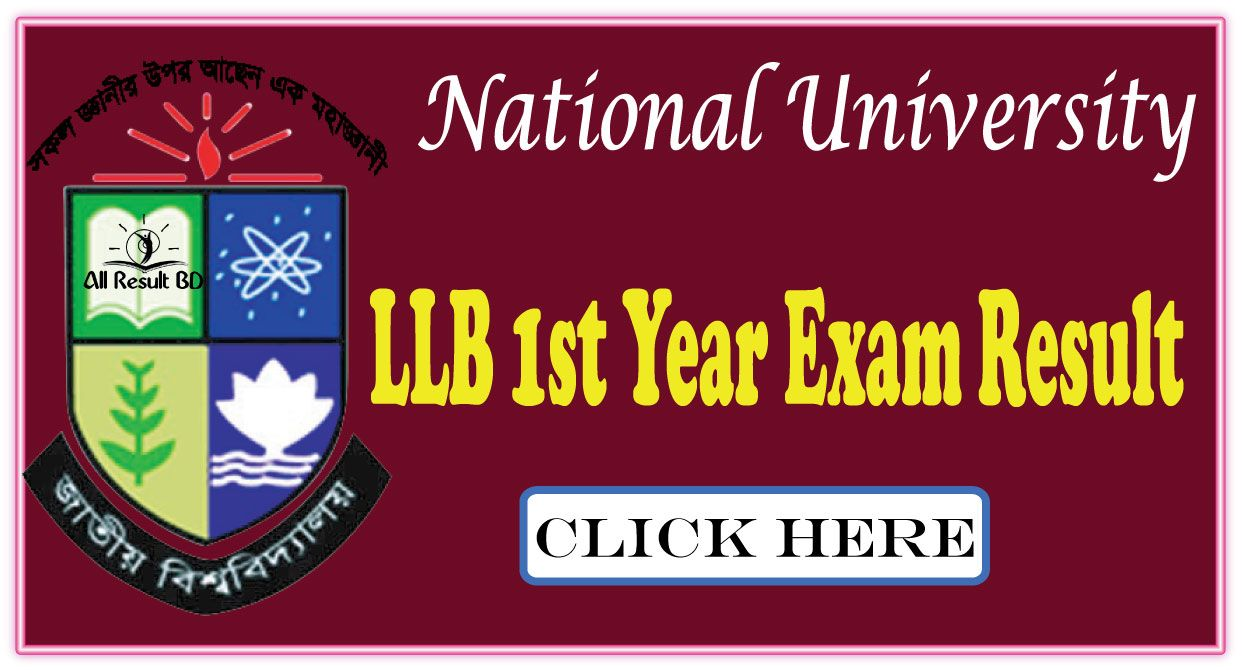 National University LLB 1st Year Exam Result 2016