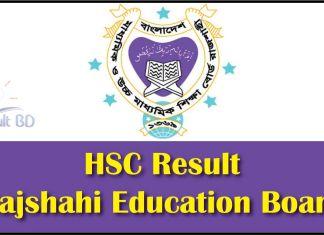 HSC Result Rajshahi Education Board