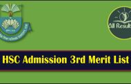 HSC Admission 3rd Merit List 2017 Published –Xiclassadmission.Gov.Bd