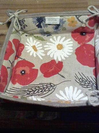 Bread Basket in meadow print